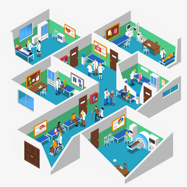 Hospital 3D HD Free buckle creative plan, Check Room, Operating Room,  Doctor\u0027s Office Free PNG Image - Hospital PNG HD Images