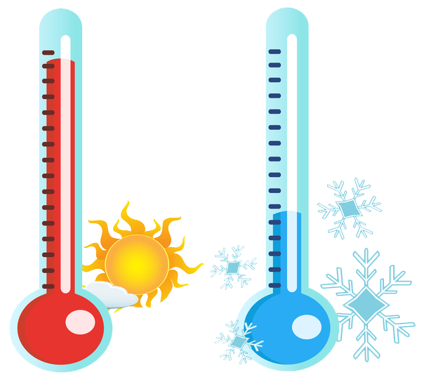 hot-and-cold-thermometer - Hot And Cold PNG