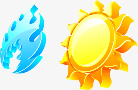 vector icon of hot and cold, Sun, Cold, Heat PNG and Vector - Hot And Cold PNG
