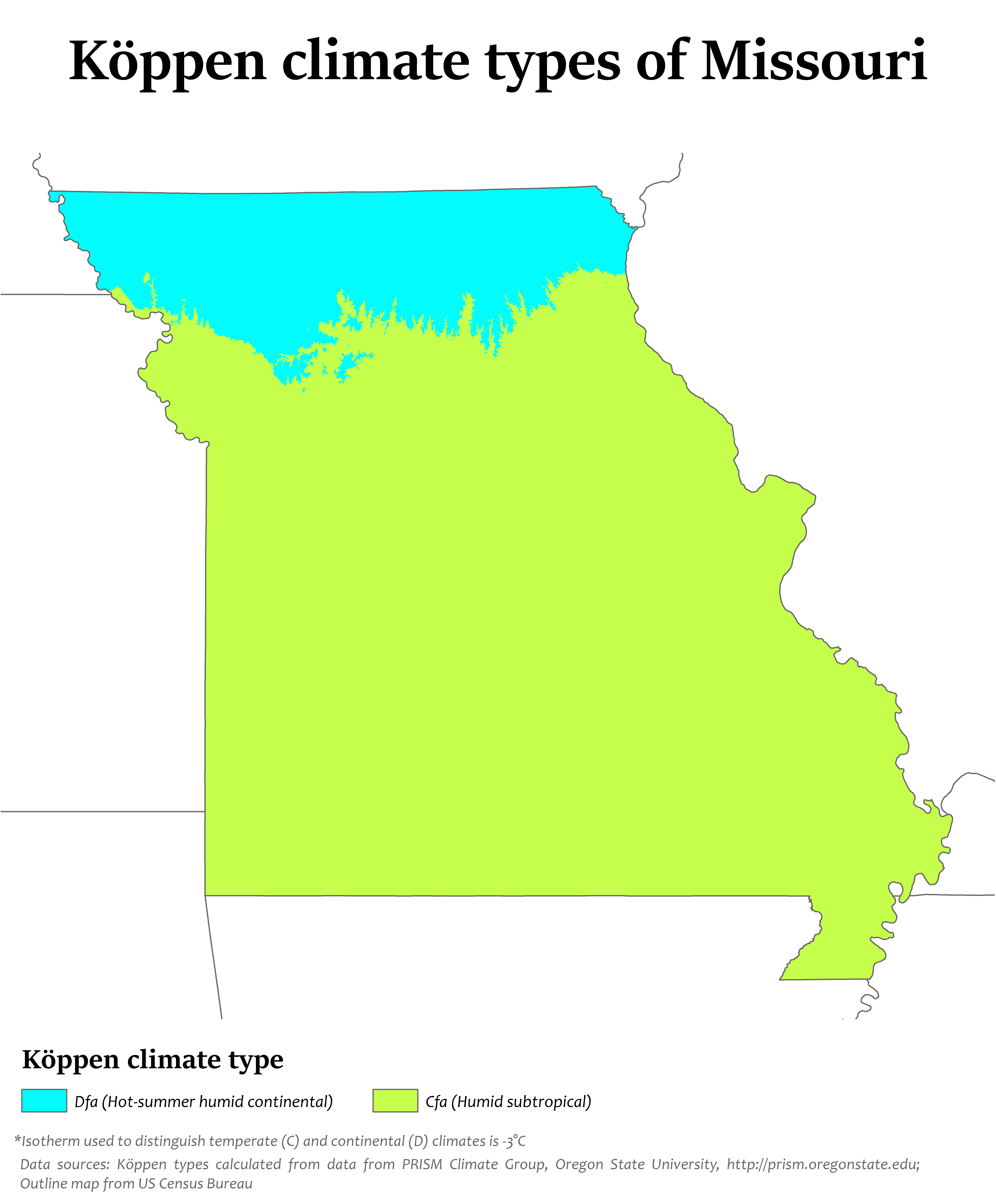File:Missouri Köppen.png - Hot And Humid PNG