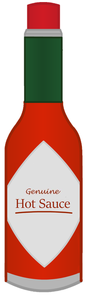 Hot Sauce NEW.png - Hot Sauce Bottle PNG