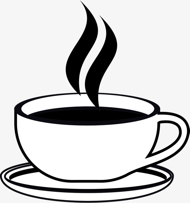 a cup of hot afternoon tea, Hand, Coffee Aroma, Glass PNG and Vector - Hot Tea PNG Black And White