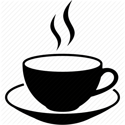 breakfast, cafe, cup, drink, hot coffee mug, java, tea icon - Hot Tea PNG Black And White