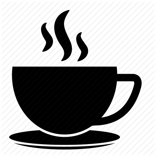 coffee, coffee cup, cup and saucer, hot coffee, hot tea, tea - Hot Tea PNG Black And White