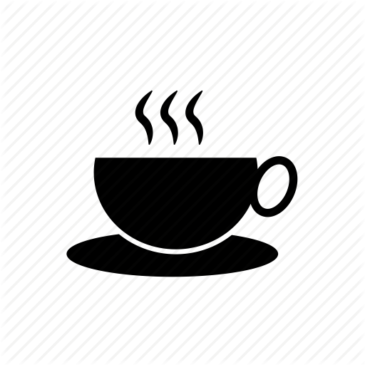 coffee, coffee cup, hot coffee, hot tea, tea, tea cup icon - Hot Tea PNG Black And White