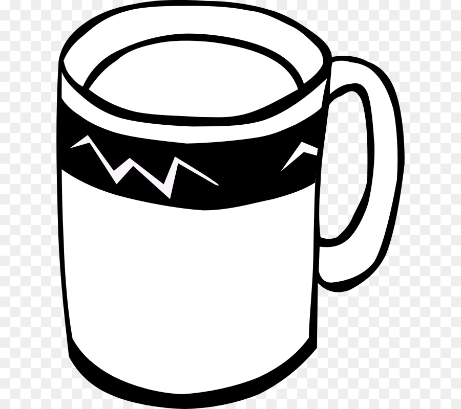 Coffee Tea Hot chocolate Cup Clip art - Free Coffee Clipart - Hot Tea PNG Black And White