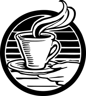 Coffee Tea Hot Drink Hot Beverage Steaming - Hot Tea PNG Black And White