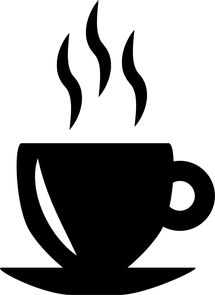 Hot Tea PNG Black And White - 166359