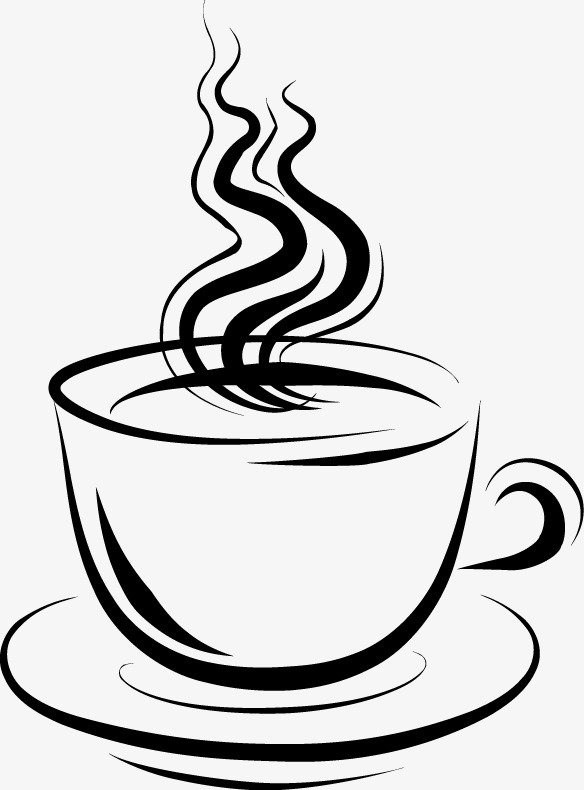 ink pattern of hot tea, Hot Tea, Smoke, Cup PNG Image and Clipart - Hot Tea PNG Black And White