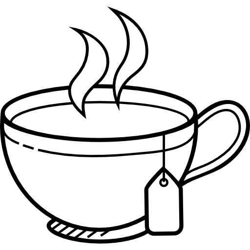Hot Tea PNG Black And White - 166349