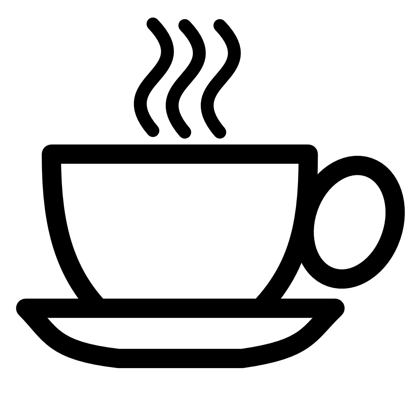 Tea clipart black and white - Hot Tea PNG Black And White