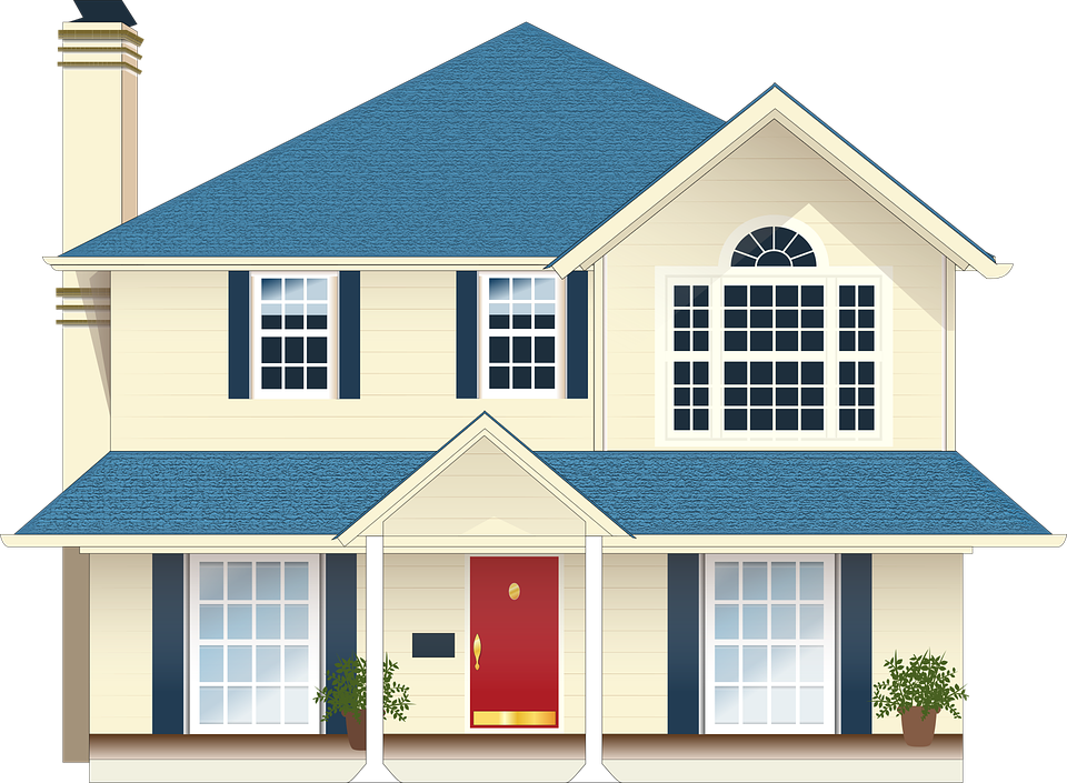 house residence blue - Home PNG