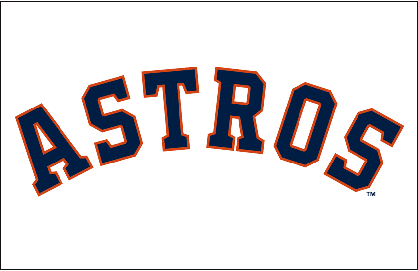 Houston Astros Jersey Logo (2013) - ASTROS in blue and orange arched on  white - Houston Astros Logo Vector PNG