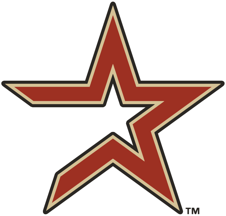 Houston Astros Alternate Logo (2000) - Brick star with tan and coal outline - Houston Astros PNG