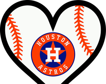 Houston Astros Texas Baseball l Love Heart digital file for decal for car  window, yeti - Houston Astros PNG