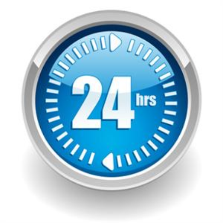 24-hours-logo - Hrs Logo PNG