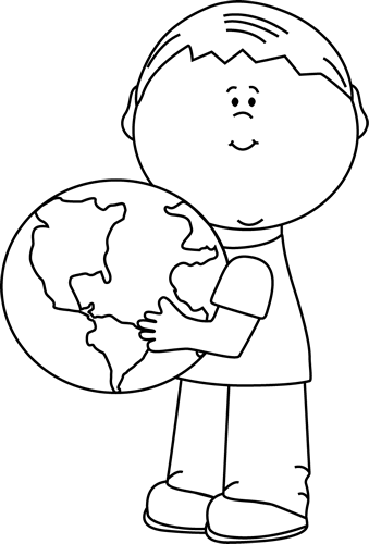 Black and White Boy Hugging Earth Clip Art - Black and White Boy - Hug PNG Black And White