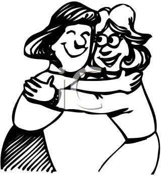 Hug PNG Black And White - 69418
