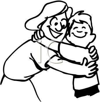 Hug PNG Black And White - 69414
