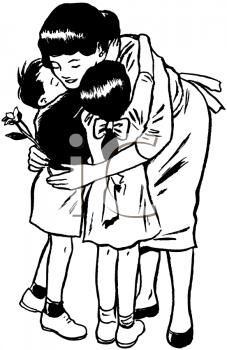 Hug PNG Black And White - 69422