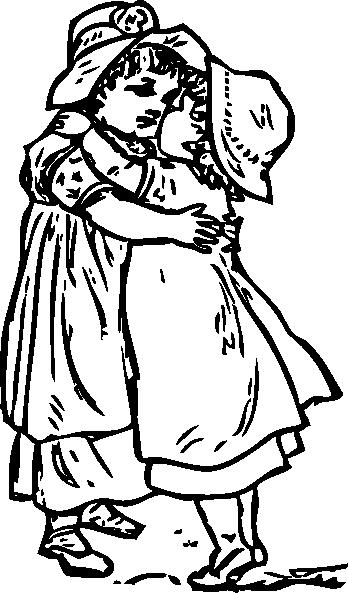 Hug PNG Black And White - 69424