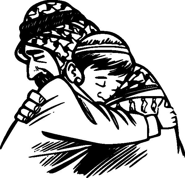 Hug PNG Black And White - 69415