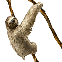 Huge item sloth 01.png - Sloth PNG