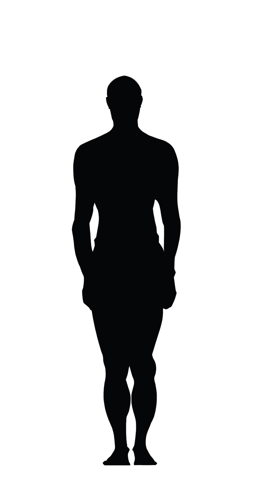 Human Body Silhouette - Clipart library - Human Figure PNG HD
