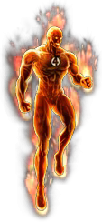 Human Torch-Classic.png - Human Torch PNG
