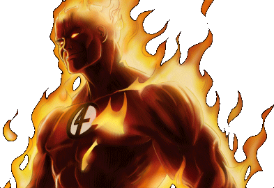 Human Torch Dialogue 1 Right.png - Human Torch PNG