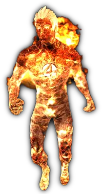Human Torch (HD).png - Human Torch PNG