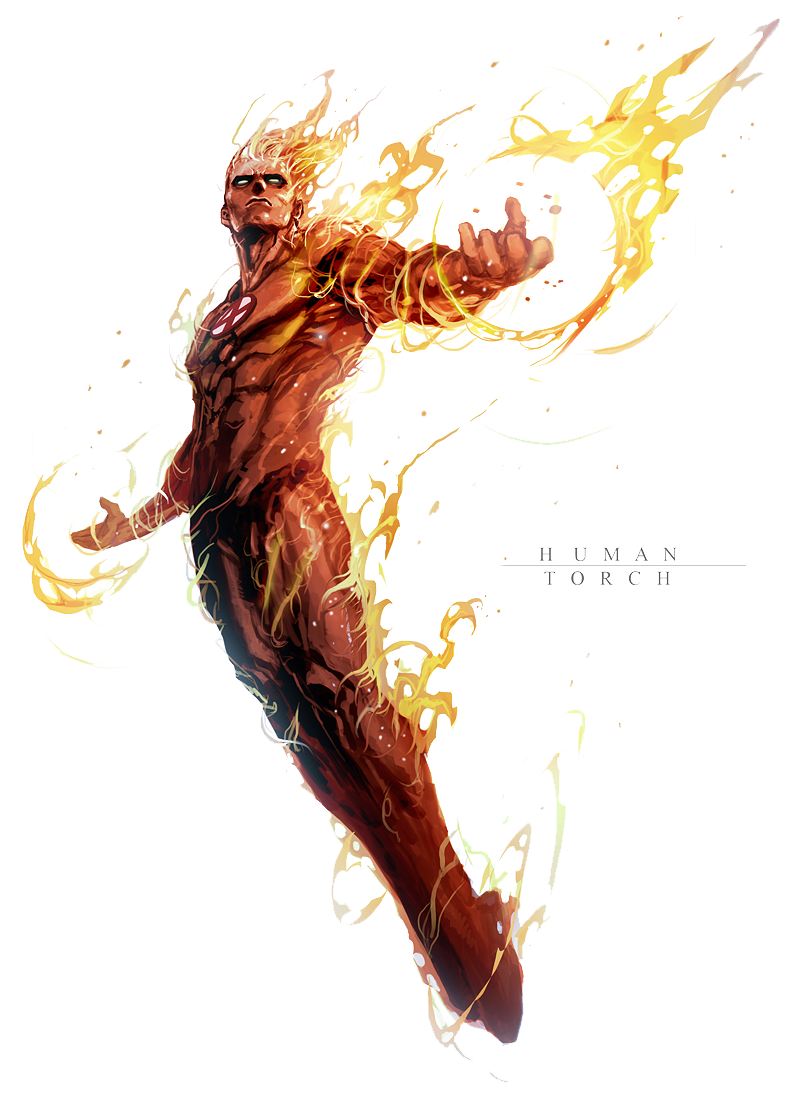 Human Torch PNG File - Human Torch PNG