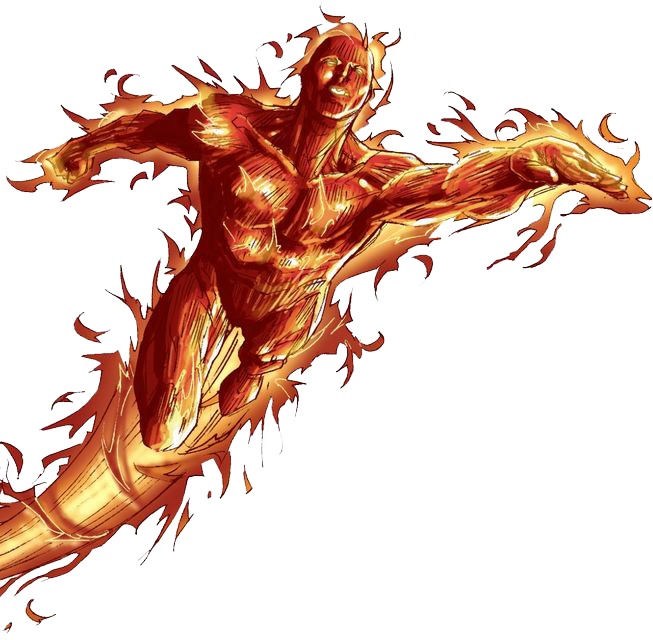 PNG File Name: Human Torch PlusPng.com