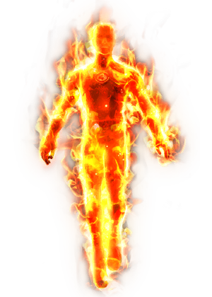 The Human Torch in Marvel Heroes - Human Torch PNG