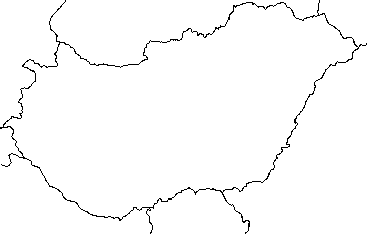 Blank map of Hungary.png - Hungary PNG