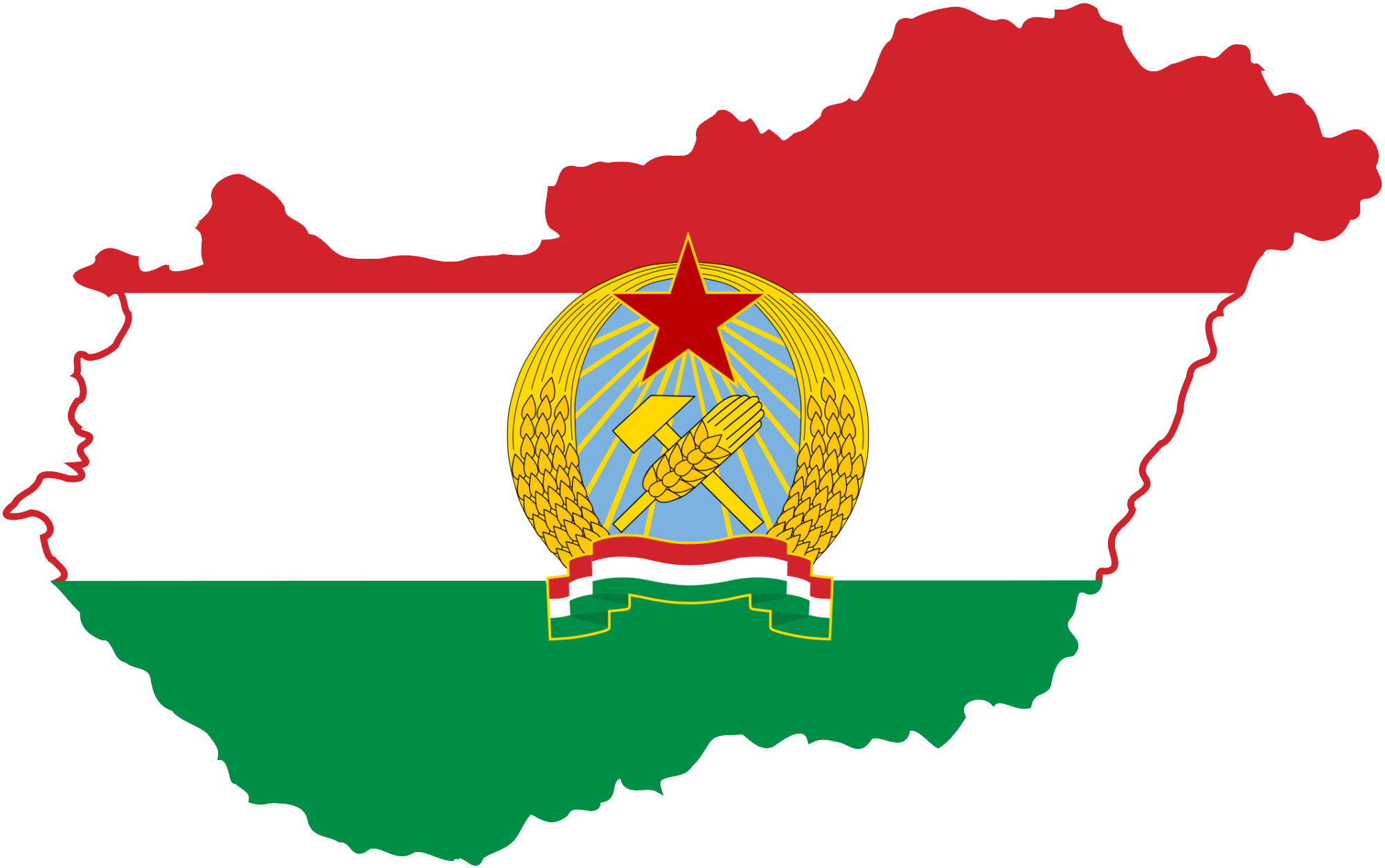 File:Flag-map of Peopleu0027s Republic of Hungary.png - Hungary PNG
