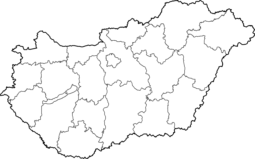 File:Hungary map with Balaton.png - Hungary PNG