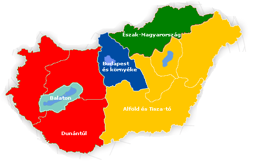File:Touristic regions of Hungary.png - Hungary PNG