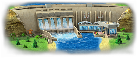 Hydro Power Plant Artwork - Hydroelectricity PNG