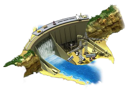 Hydro Power Plant L2.png - Hydroelectricity PNG