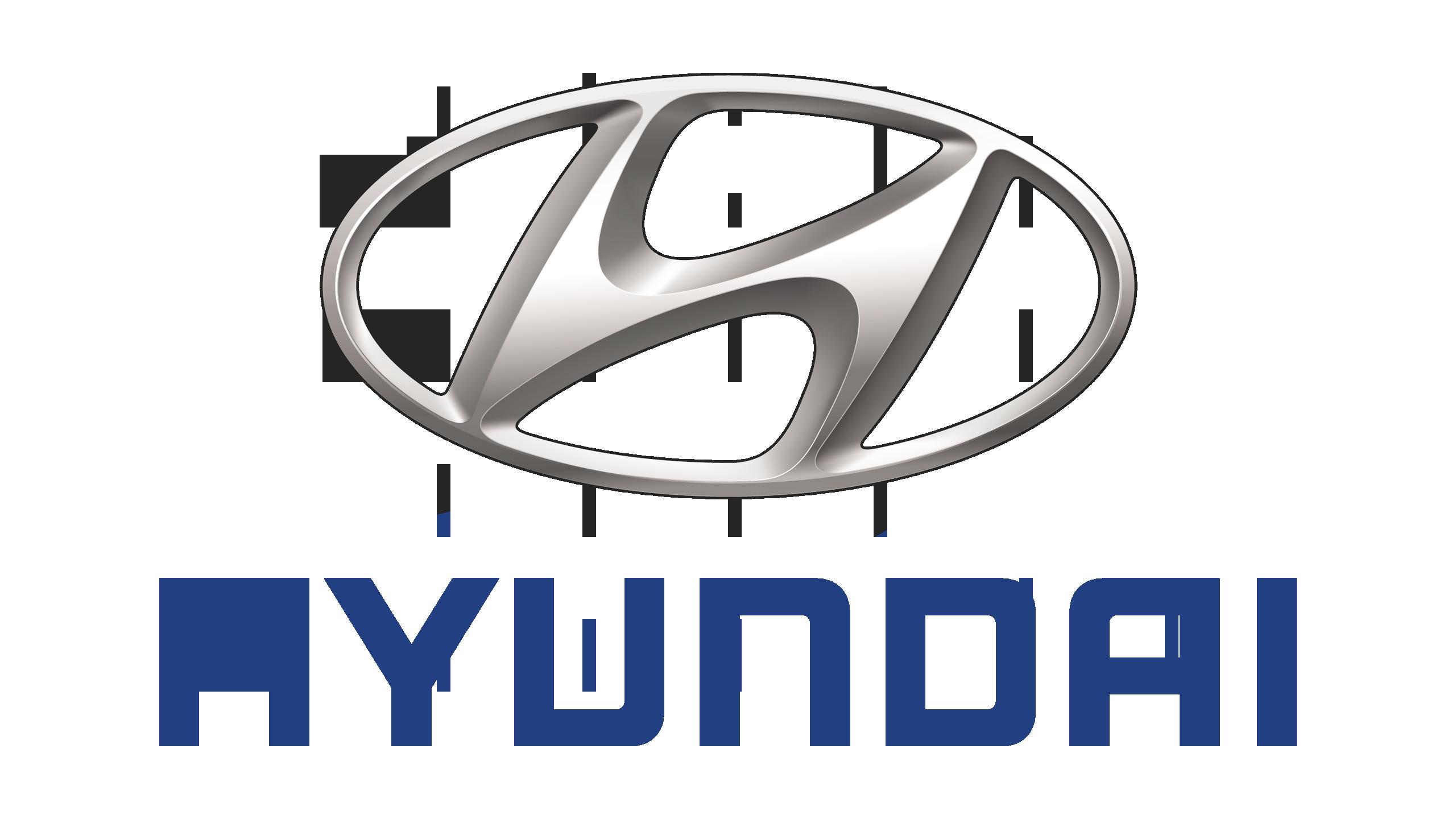 Hyundai Logo (Grey) 2560x1440 HD png - Hyundai Logo PNG