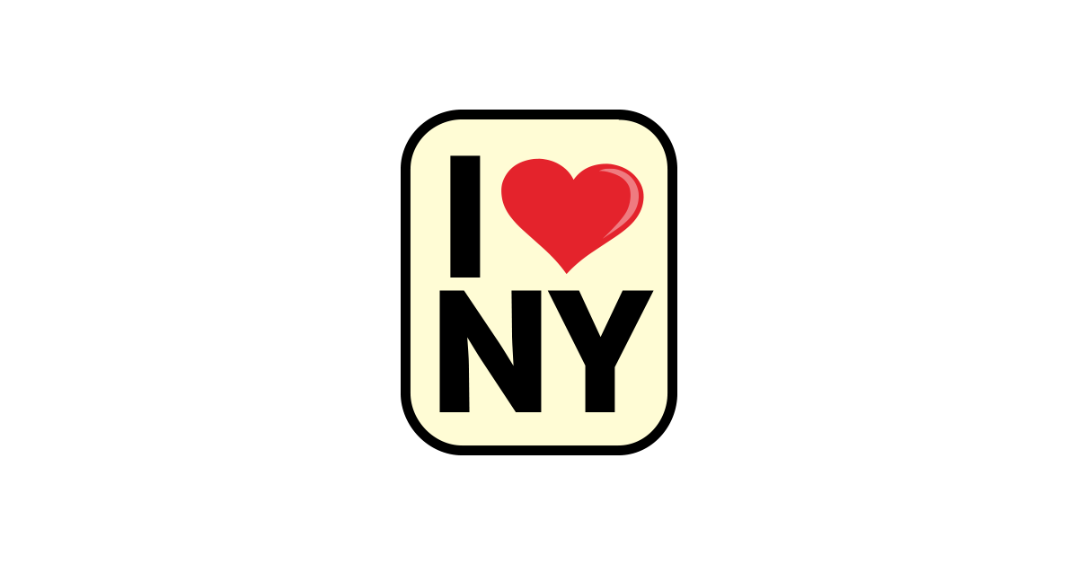 I Love New York Sign PNG