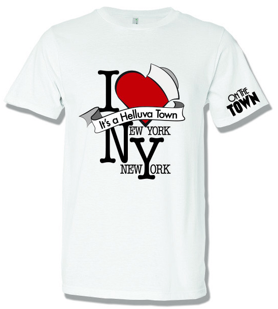 On the Town the Broadway Musical - I Love New York T-Shirt - TOWN005 PlusPng.com  - I Love New York PNG