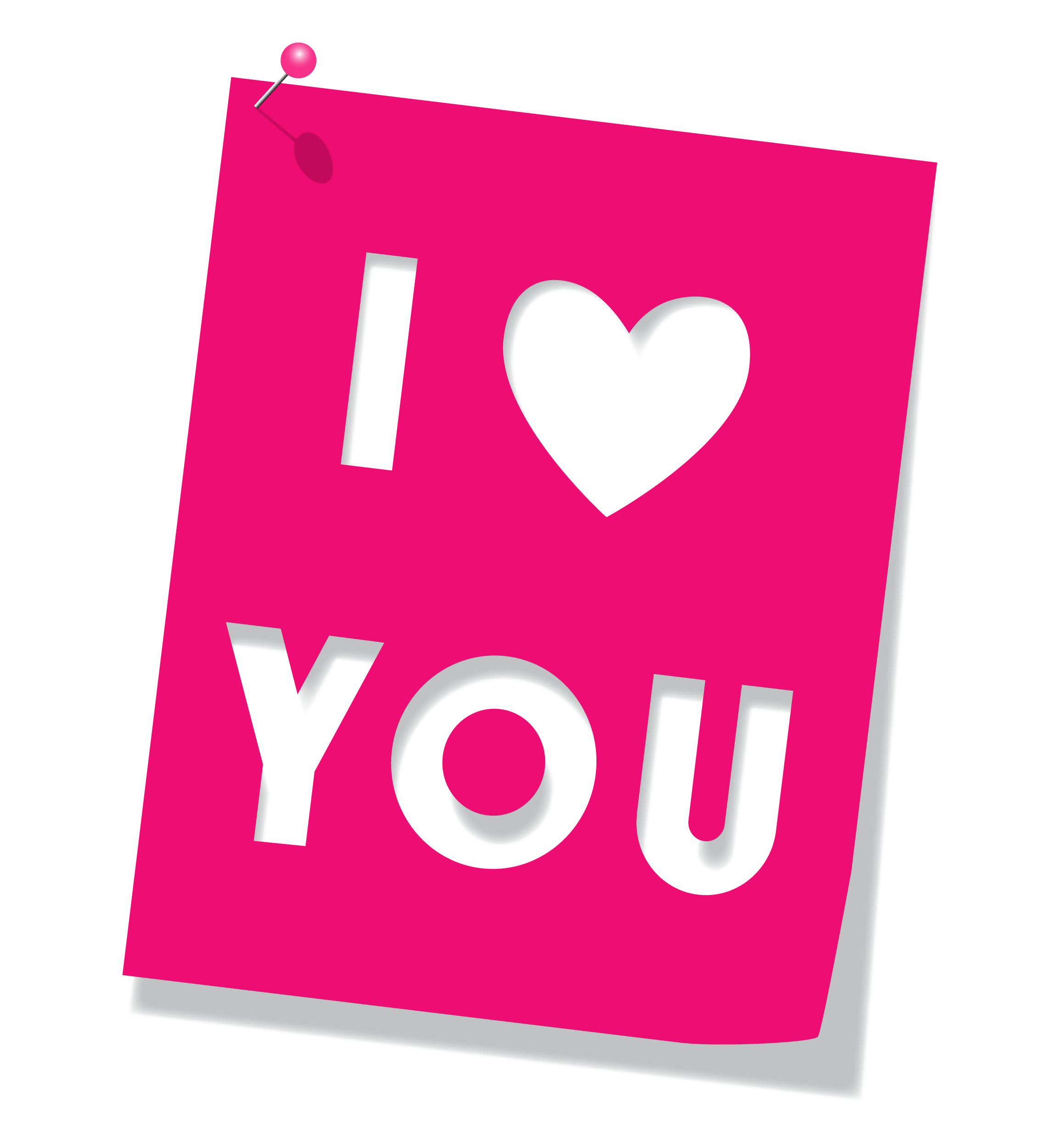 Luv clipart hd - Love You PNG HD - I Love U PNG HD