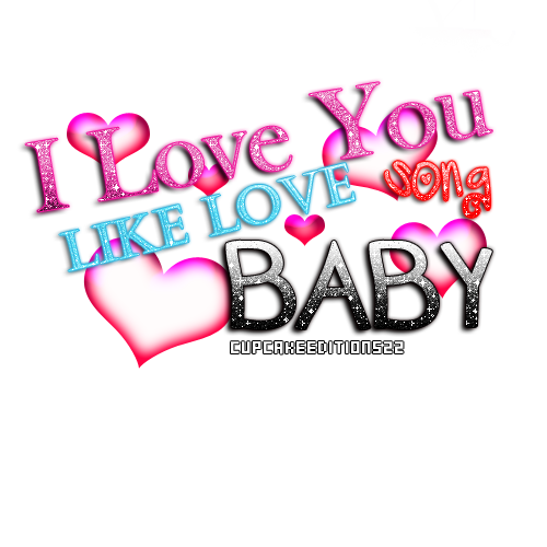 I love You Like Love Song PNG
