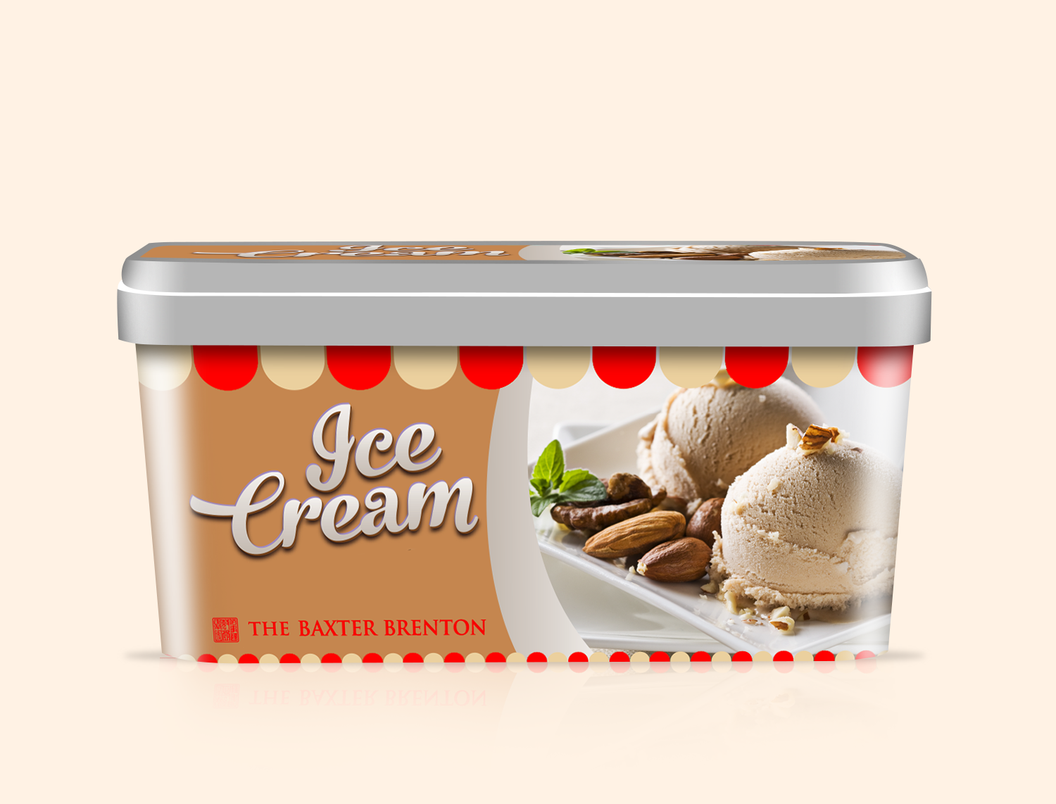 Free-Ice-Cream-Tub-Packaging-Mockup-PSD-POST - Ice Cream Tub PNG