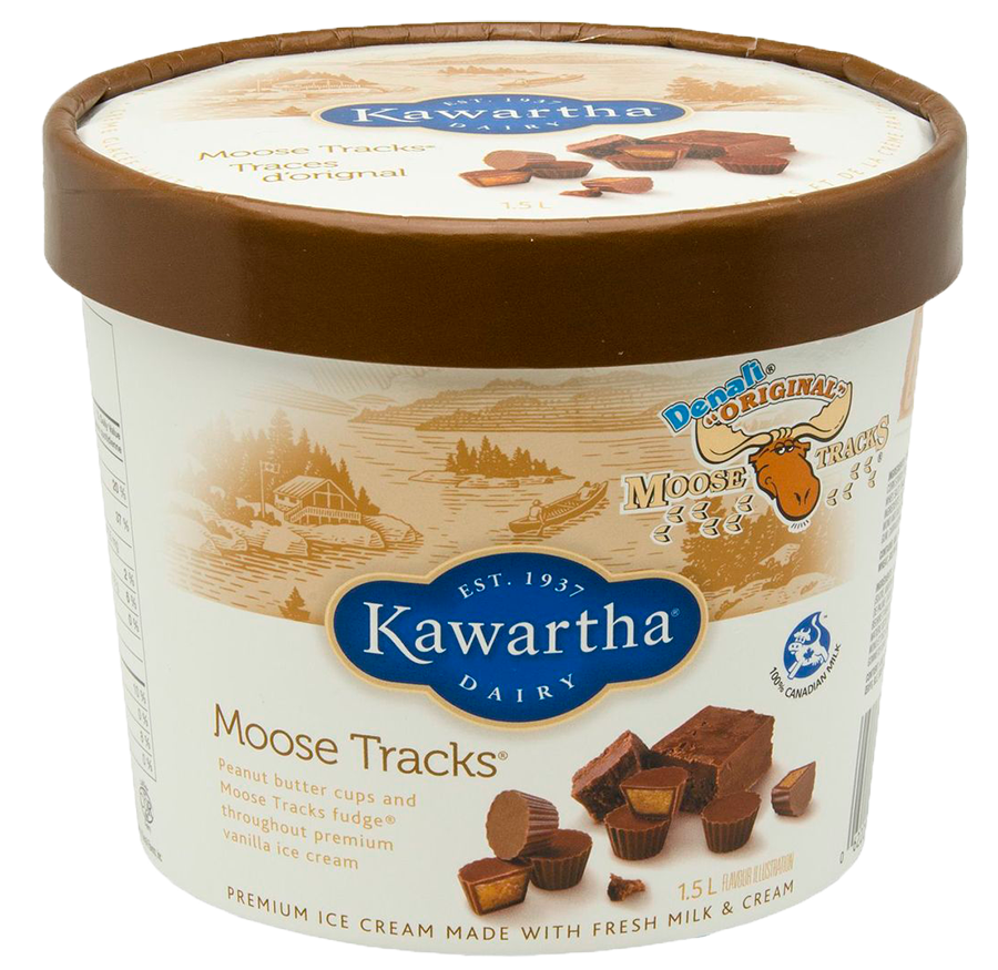 Moose Tracks Ice Cream - Ice Cream Tub PNG