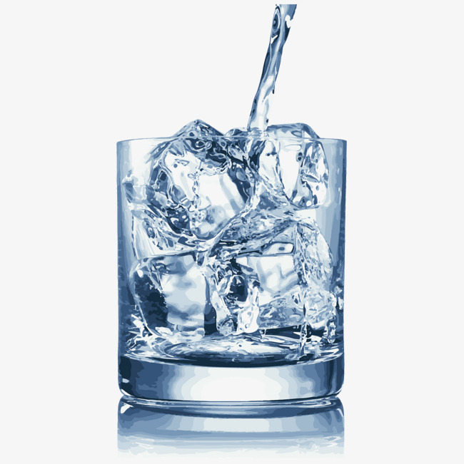 Ice Cubes In Glass PNG