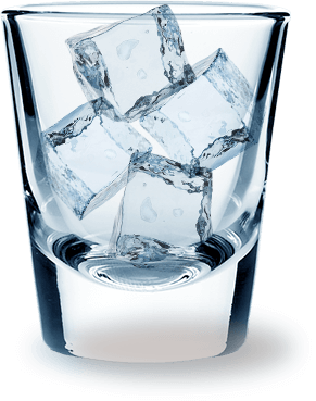 Fuzzyu0027s Vodka 100 Times Filtered - Ice In Glass PNG