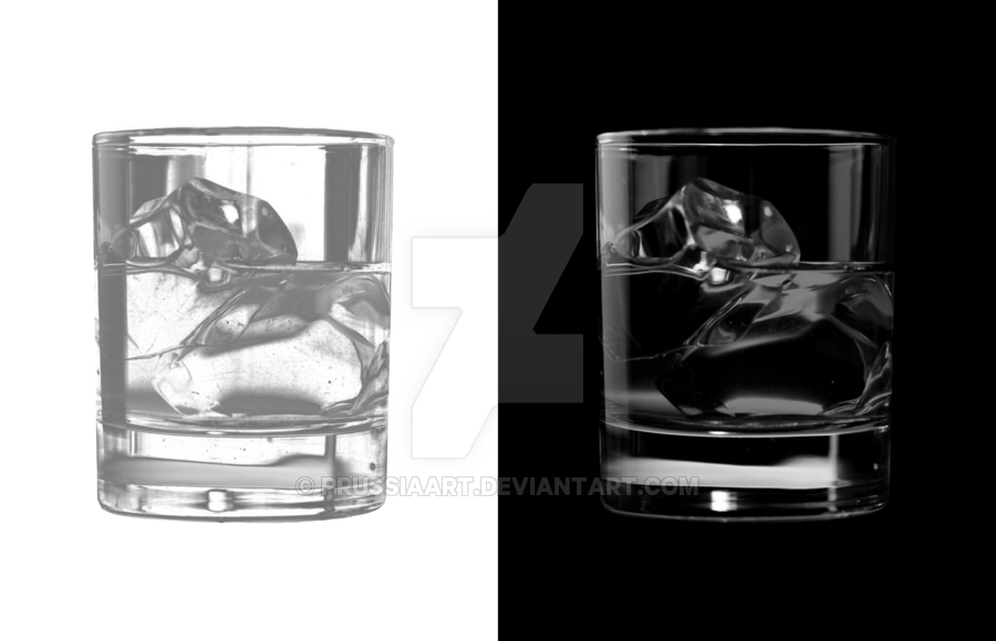 Water glass in transparent ice. by PRUSSIAART PlusPng.com  - Ice In Glass PNG
